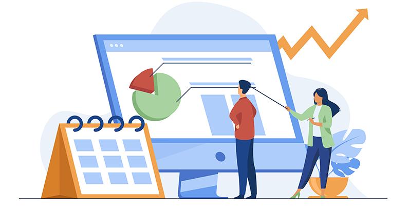 Consultoria em Finanças pessoas olhando gráficos